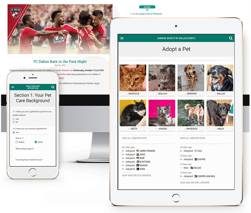 Responsive Website for the Humane Society of Dallas County