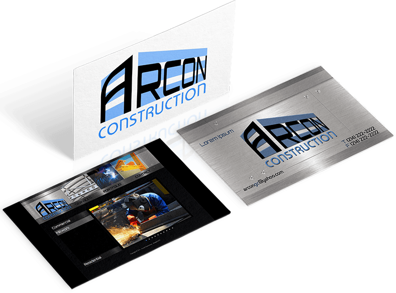 Branding, Website, and Stationery for Arcon Construction